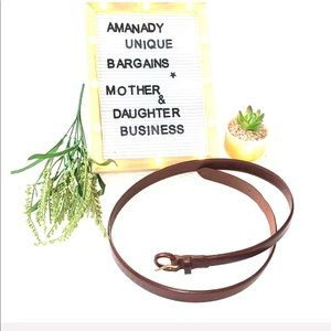 🏇🏼 Polo Ralph Lauren Brown Leather belt size 44